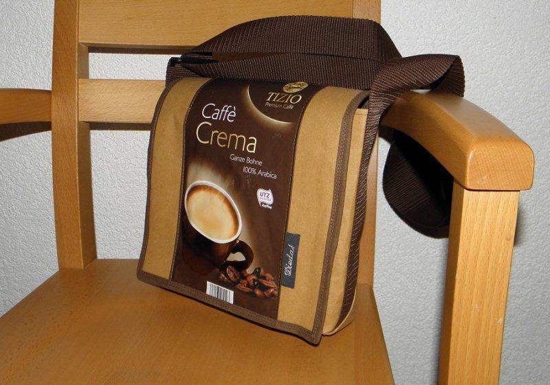 - Tasche, Umhängetasche für den Herren, aus waschbarem Papier und Kaffeetüte, Upcycling, leicht und stabil - Tasche, Umhängetasche für den Herren, aus waschbarem Papier und Kaffeetüte, Upcycling, leicht und stabil
