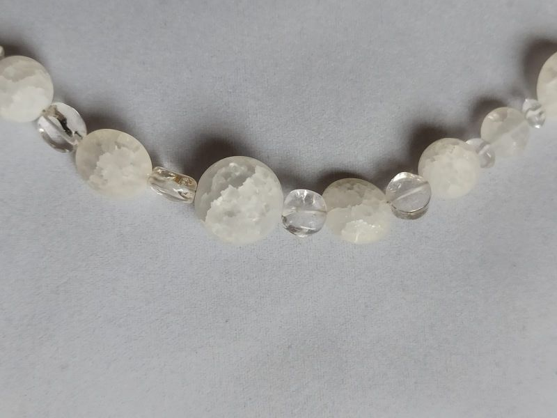 Kleinesbild - Bergkristall-Kette gecrasht sehr edel
