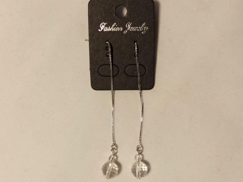 Kleinesbild - Ohrringe Durchzieher/-Fädler mit Bergkristall