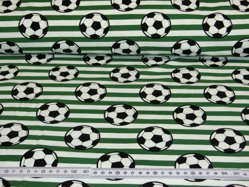 Jersey Stoff Fussball Baumwolljersey Meterware