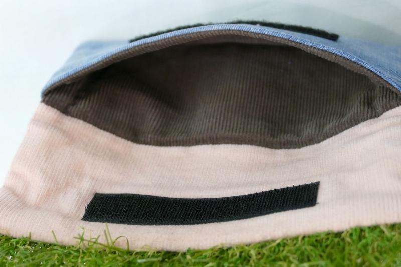 Kleinesbild - Mäppchen mit Rasenkante - Upcycling aus Jeans / Cord / Kunstrasen