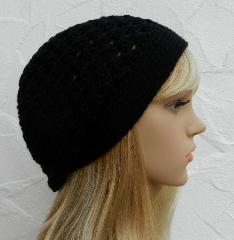 - Lisa ♥ Beanie, Wintermütze in elegantem schwarz - 100% Polyacryl - Lisa ♥ Beanie, Wintermütze in elegantem schwarz - 100% Polyacryl