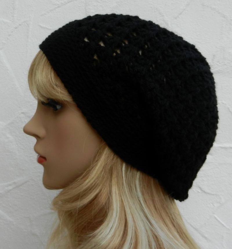 Kleinesbild - Lisa ♥ Beanie, Wintermütze in elegantem schwarz - 100% Polyacryl