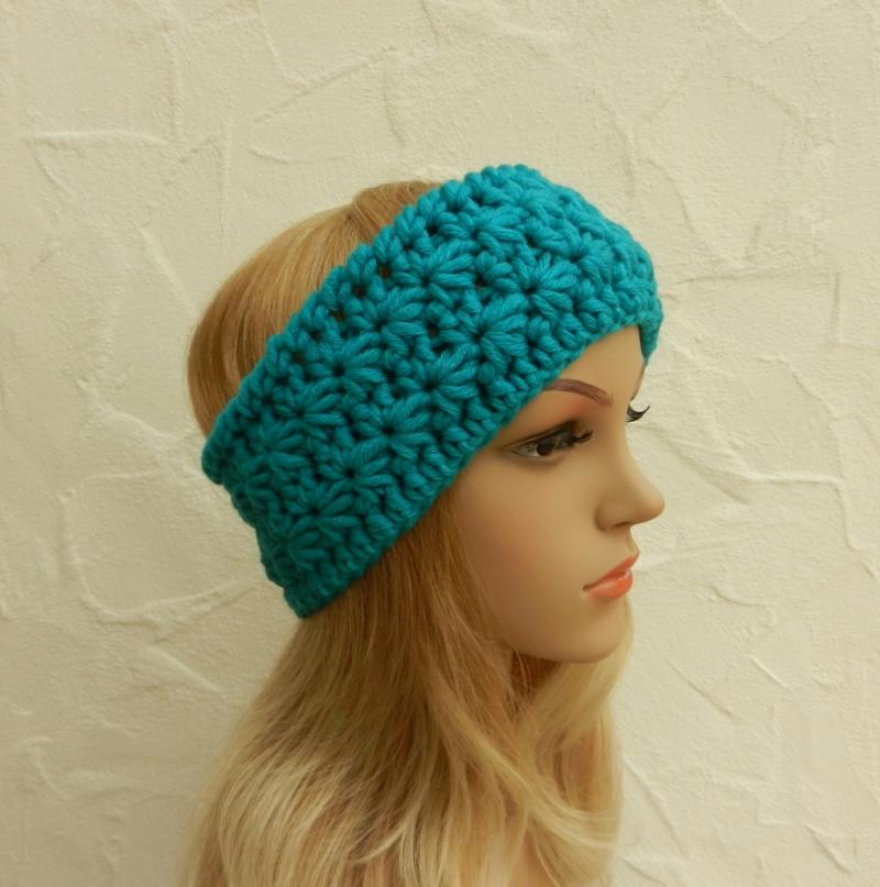 - Stirnband, Ohrenwärmer in aqua, blau-grün - Polyacryl, Wolle Mix - Stirnband, Ohrenwärmer in aqua, blau-grün - Polyacryl, Wolle Mix
