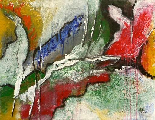 - Acrylbild auf Leinwand, abstrakt - Tausendfüßler - 60x40cm - Acrylbild auf Leinwand, abstrakt - Tausendfüßler - 60x40cm