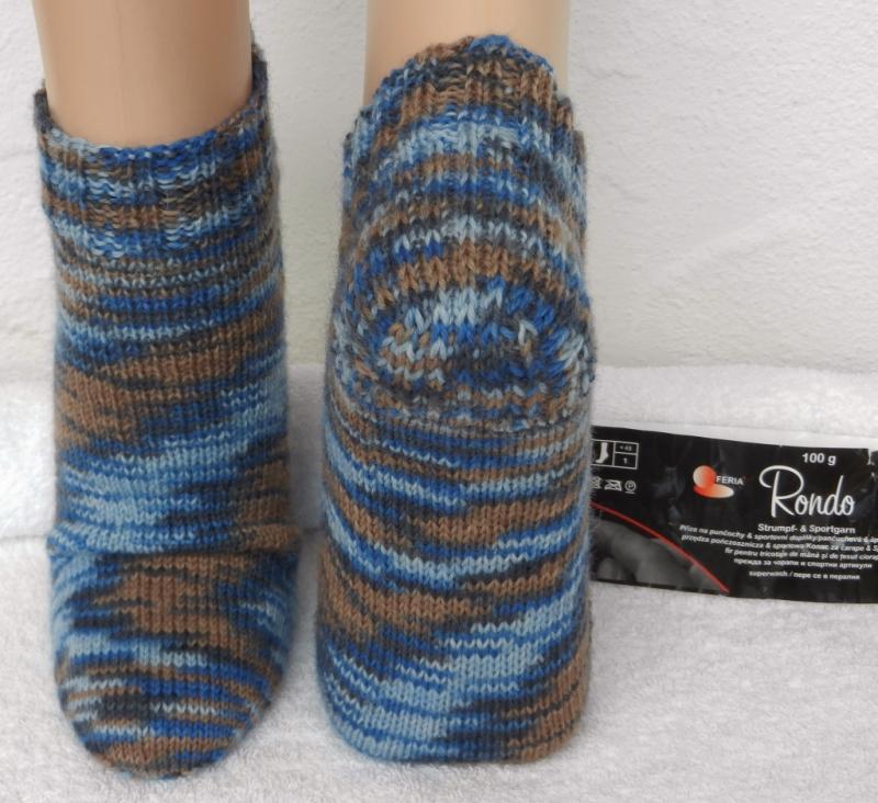 Kleinesbild - Sneakers, Füßlinge Gr. 38-39 in blau, braun - mustergleich