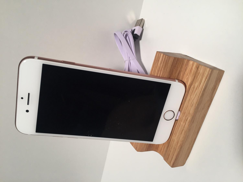 - iPhone 6 / 6S / 7 / Plus Dockingstation Ladestation Tischlader Eichenholz  - iPhone 6 / 6S / 7 / Plus Dockingstation Ladestation Tischlader Eichenholz