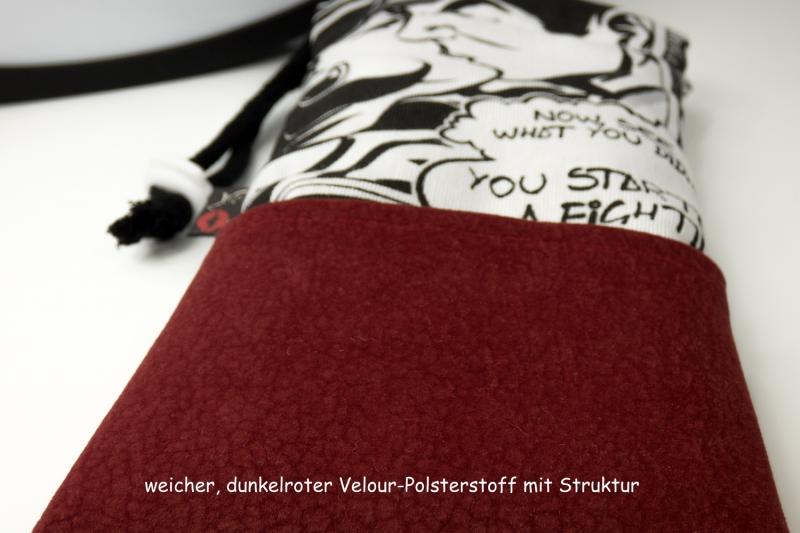 Kleinesbild - Handytasche Brillenetui ♥ Love Me Tender ♥ im Comic-Stil schwarz-weiß
