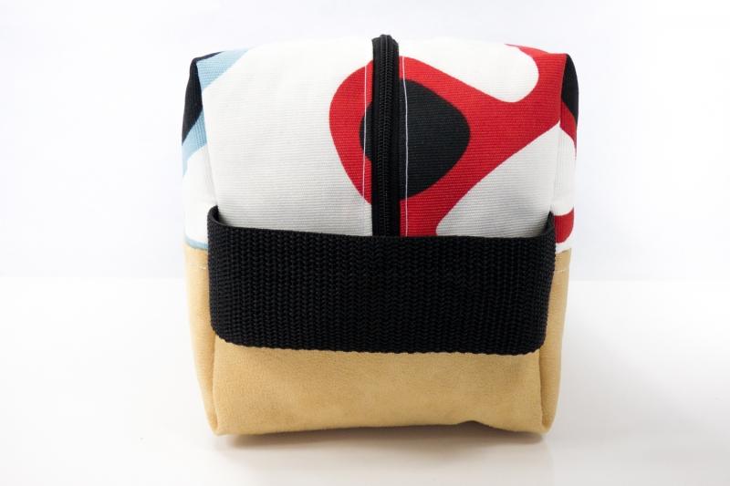 Kleinesbild - Kulturtasche ♥ Sunglasses ♥ für Sie und Ihn mit curryfarbenem Kunstleder