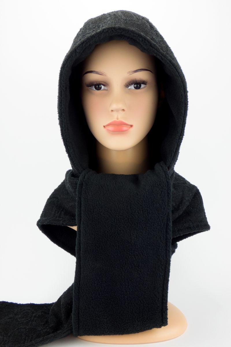 - Kapuzenschal ♥BlackMoon♥ Kapuze und Schal in einem, schwarz ♥ statt Mütze windgeschützt, kuschelig und warm  - Kapuzenschal ♥BlackMoon♥ Kapuze und Schal in einem, schwarz ♥ statt Mütze windgeschützt, kuschelig und warm