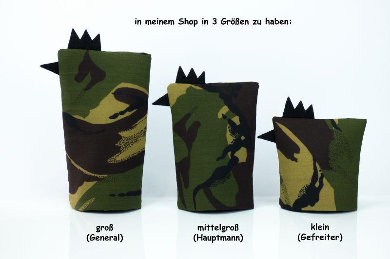 Kleinesbild - Eierwärmer GEFREITER ★ Schwarz ★ Camouflage Flecktarn ♡ auch eine tolle Dekoration ♡ nicht nur für Ostern