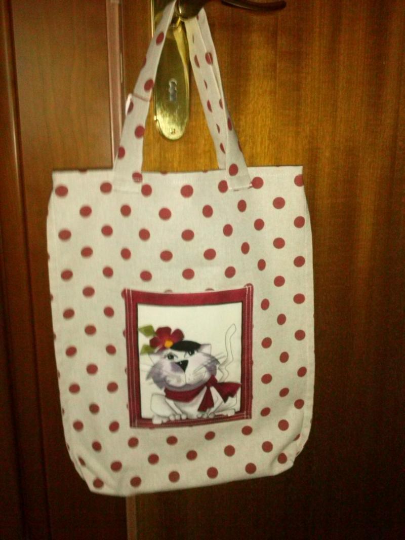 - Shopper mit Außentasche / Motiv Hund - Shopper mit Außentasche / Motiv Hund