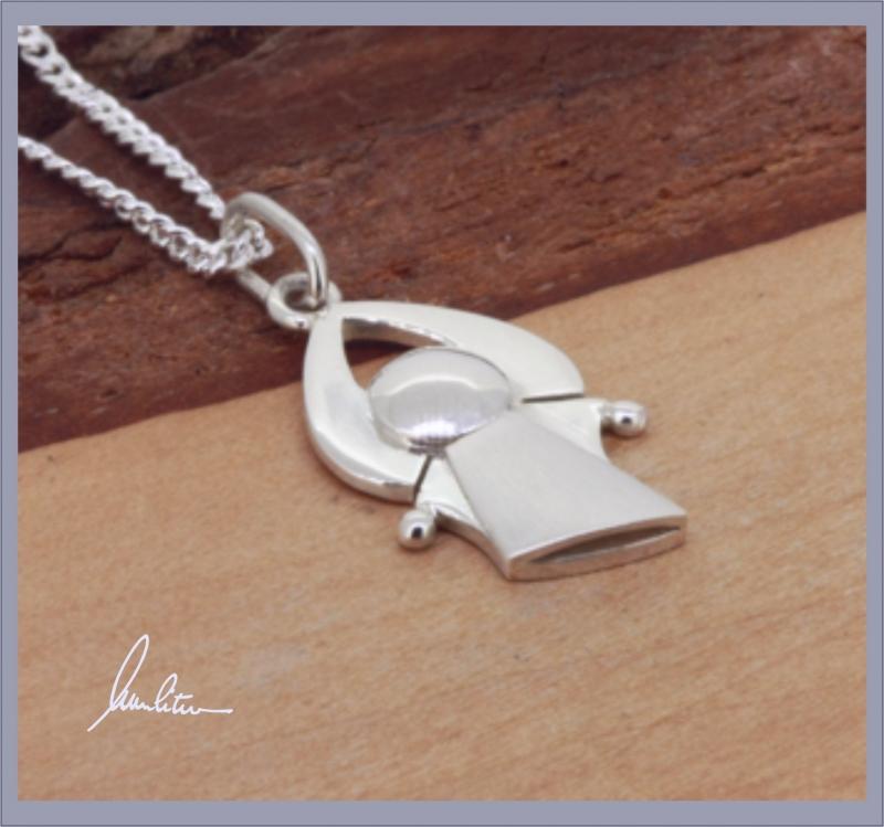 Kleinesbild - Anhänger  kleiner Engel in Silber in Handarbeit hergestellt,  kleine Wegbegleiter ☆ verschenke deine guten Wünsche