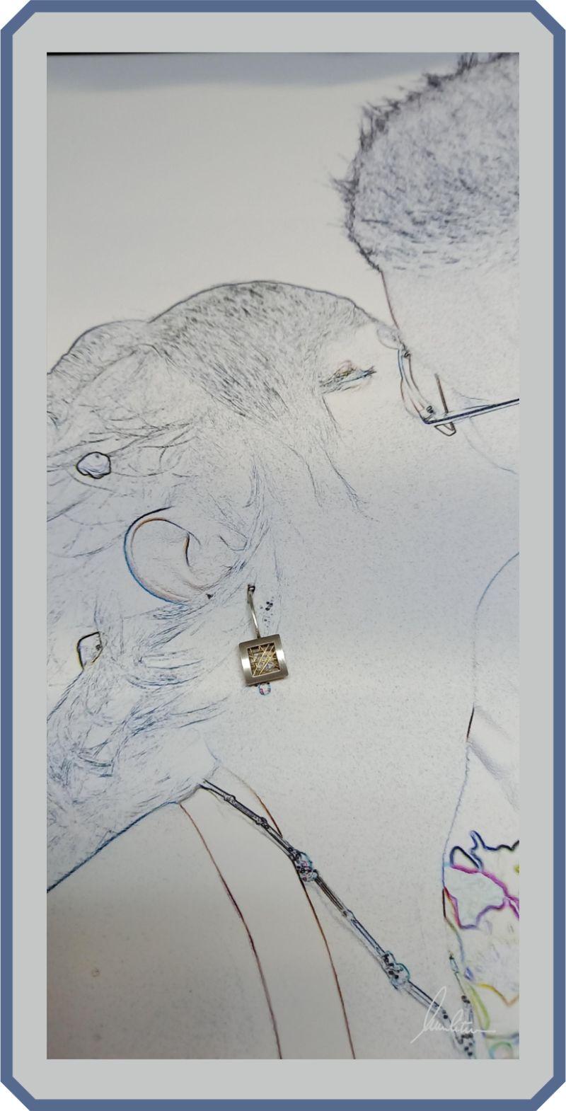 Kleinesbild - Filigrane Ohrringe in Silber und Gold 750  in feinster Handarbeit hergestellt bei wurlitzer schmuck