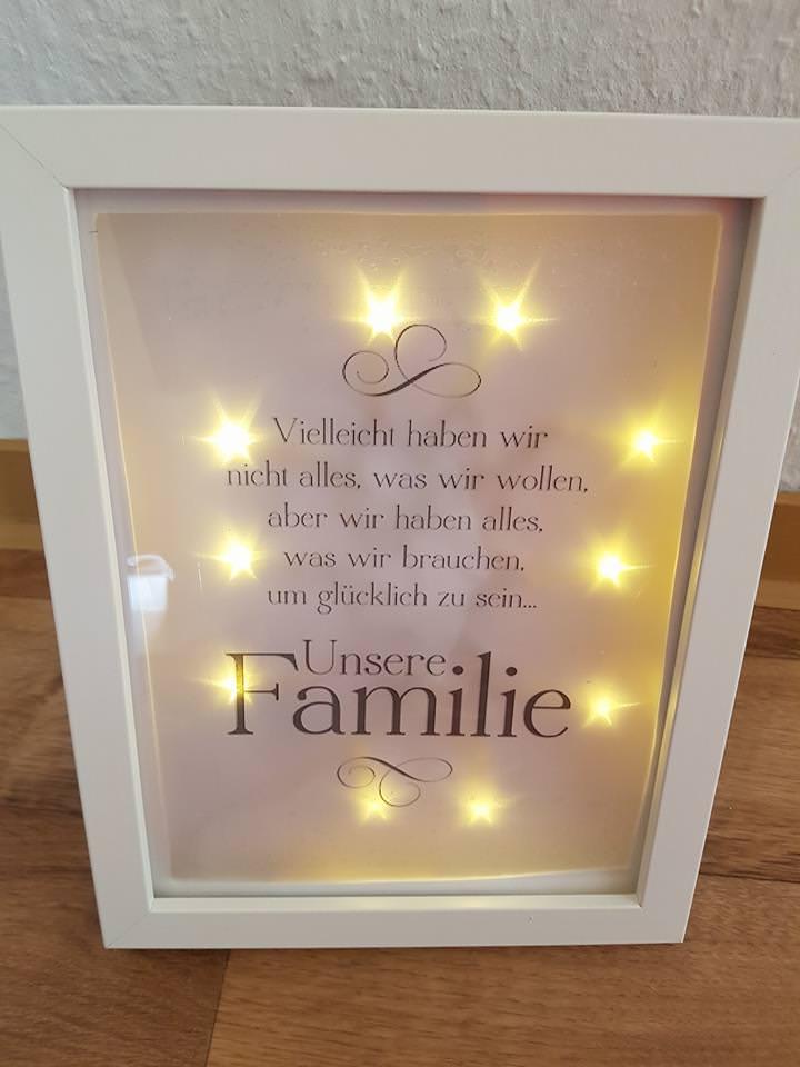 - Beleuchter Bilderrahmen bester Familie - Beleuchter Bilderrahmen bester Familie