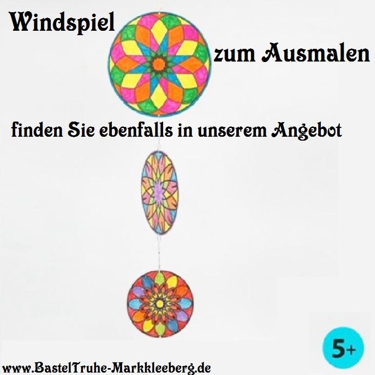 Kleinesbild - Windspiel für Kinder Meerjungfrau Mobile zum ausmalen und dekorieren Kinderzimmer deckenhänger