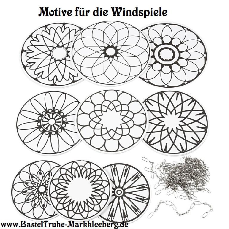 - Windspiel für Kinder Mandala Mobile zum ausmalen und dekorieren Kinderzimmer Deckenhänger - Windspiel für Kinder Mandala Mobile zum ausmalen und dekorieren Kinderzimmer Deckenhänger