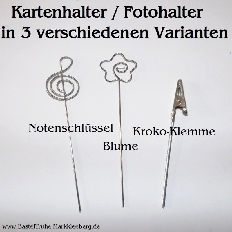 Kleinesbild - Kartenhalter Fotohalter Notiz-Zettelhalter 3er-Pack, in 3 Motiven Blume Memo-Clips