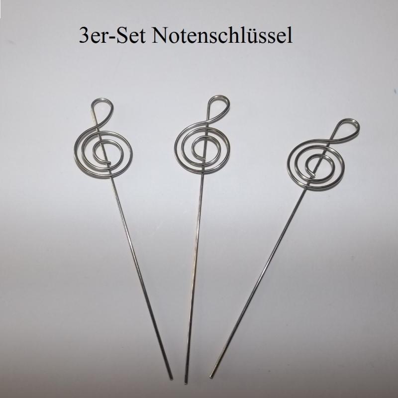 Kleinesbild - Kartenhalter Fotohalter Notiz-Zettelhalter 3er-Pack, in 3 Motiven