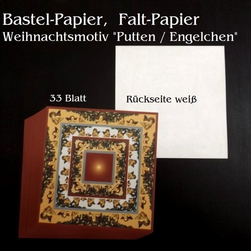 Kleinesbild - Faltpapier für Baskettasterne Origami Papierbasteln Putten & Engel Weihnachten
