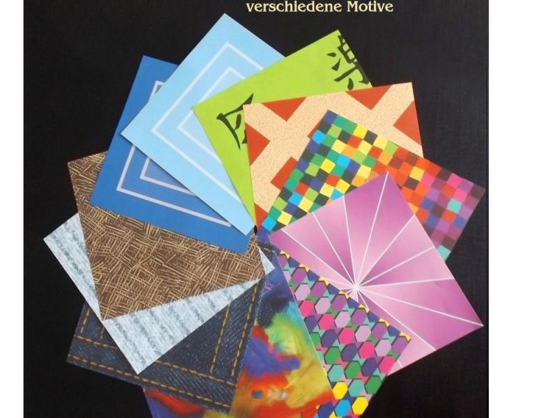 Kleinesbild - Faltpapier für Basketta-Sterne Origami-Papier Weihnachten Winter Schneeflocken Bastel-Papier
