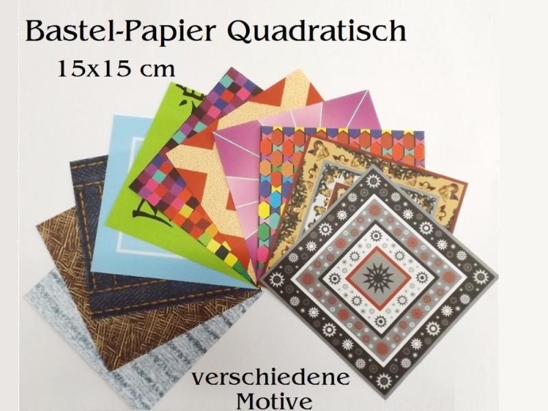 Kleinesbild - Faltpapier für Basketta-Sterne Origami-Papier Schnipsel kunderbunt Bastel-Papier