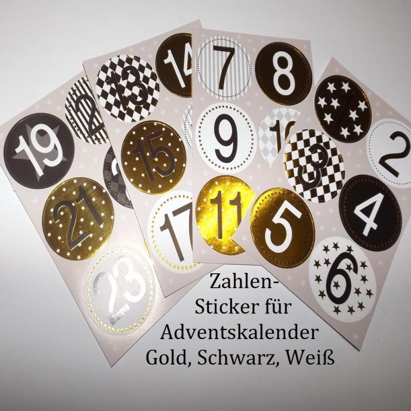 - 24 Zahlen für Adventskalender Vorweihnachtszeit Sticker 1-24 - 24 Zahlen für Adventskalender Vorweihnachtszeit Sticker 1-24