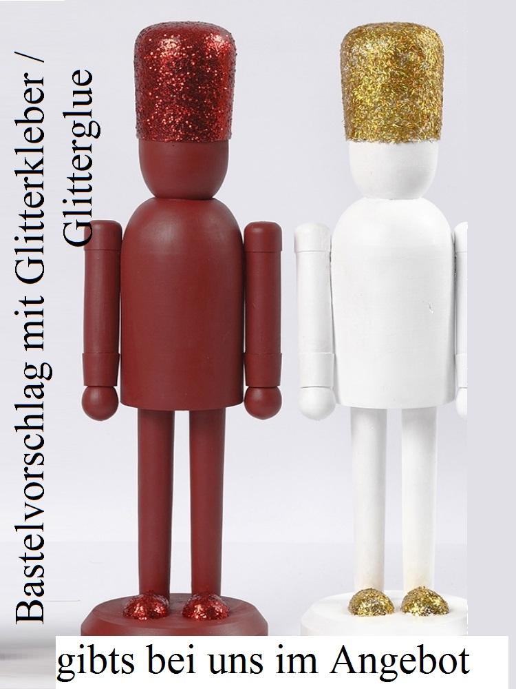 Kleinesbild - Nussknacker-Figur zum anmalen, Weihnachtsfigur Weihnachtsdeko zum verzieren Winter Weihnachten Dekoration
