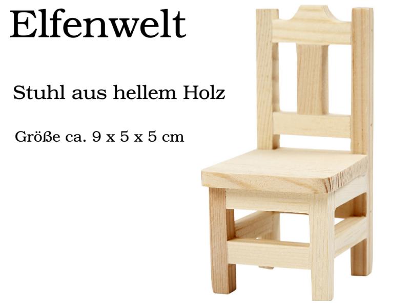 - Elfenwelt Stuhl Landhaus-Stil Minimöbel für Elfen & Wichtel Puppenstuben-Möbel aus Holz - Elfenwelt Stuhl Landhaus-Stil Minimöbel für Elfen & Wichtel Puppenstuben-Möbel aus Holz