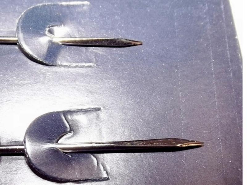 Kleinesbild - Leder-Nähnadeln, 3-Kant-Nadeln Hand nähen Doppelpack Kürschnernadeln Fell & Haut nähen