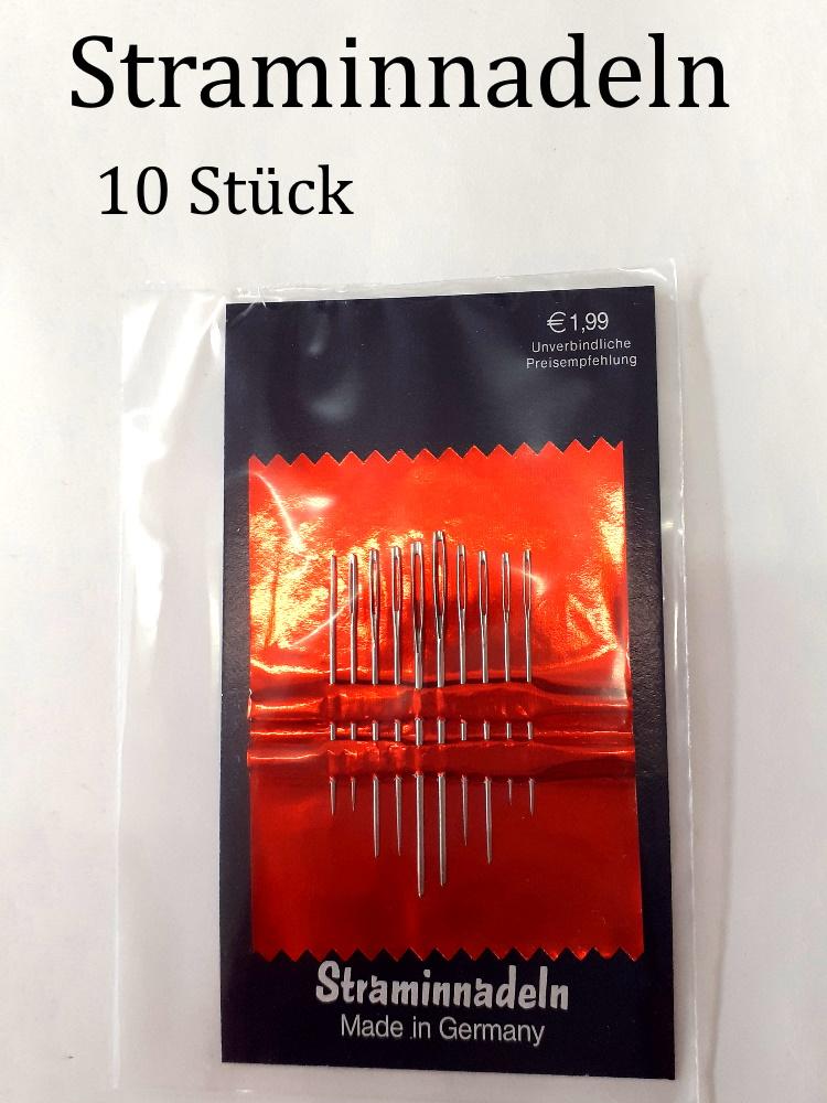 - Straminnadeln 10er-Pack zum Sticken und nähen für Stramin und andere Grobe Stoffe & Gewebe - Straminnadeln 10er-Pack zum Sticken und nähen für Stramin und andere Grobe Stoffe & Gewebe