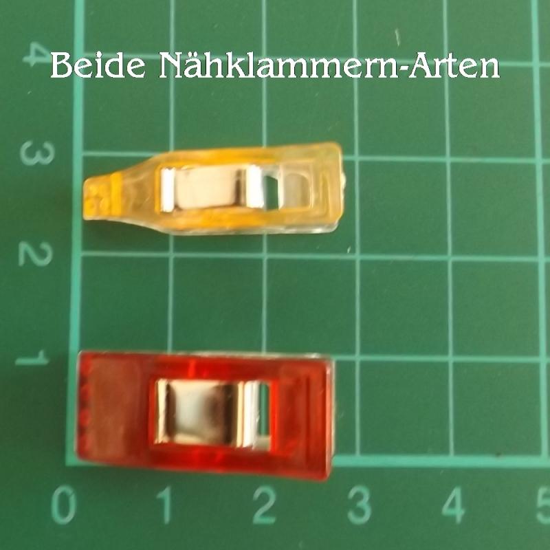 Kleinesbild - Nähklammern spitz Wonderclips Stoff-Klammern ersetzen Stecknadeln Patchwork Schneidern nähen