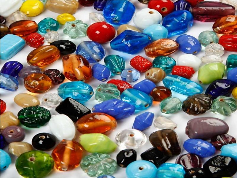 - Glas- & Keramik-Perlen-Mix Glasperlen Keramikperlen Farbmix Mischsortiment 130 Gramm - Glas- & Keramik-Perlen-Mix Glasperlen Keramikperlen Farbmix Mischsortiment 130 Gramm