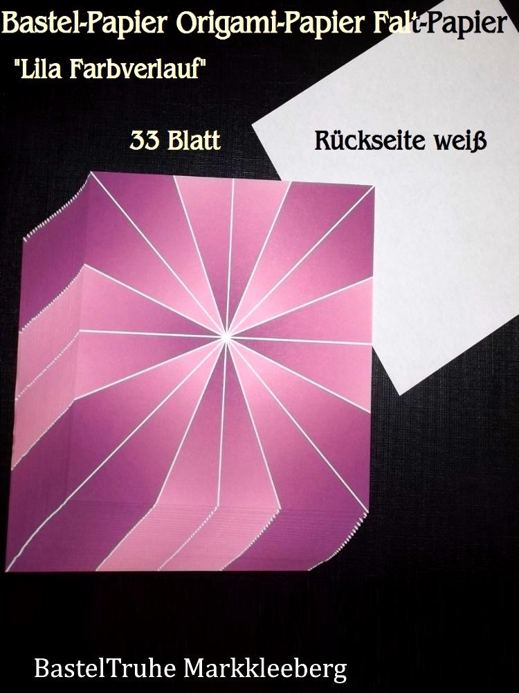 - Faltpapier für Basketta-Sterne Origami-Papier Bastel-Papier Lila Farbverlauf 33 Bögen 15 x15 cm - Faltpapier für Basketta-Sterne Origami-Papier Bastel-Papier Lila Farbverlauf 33 Bögen 15 x15 cm