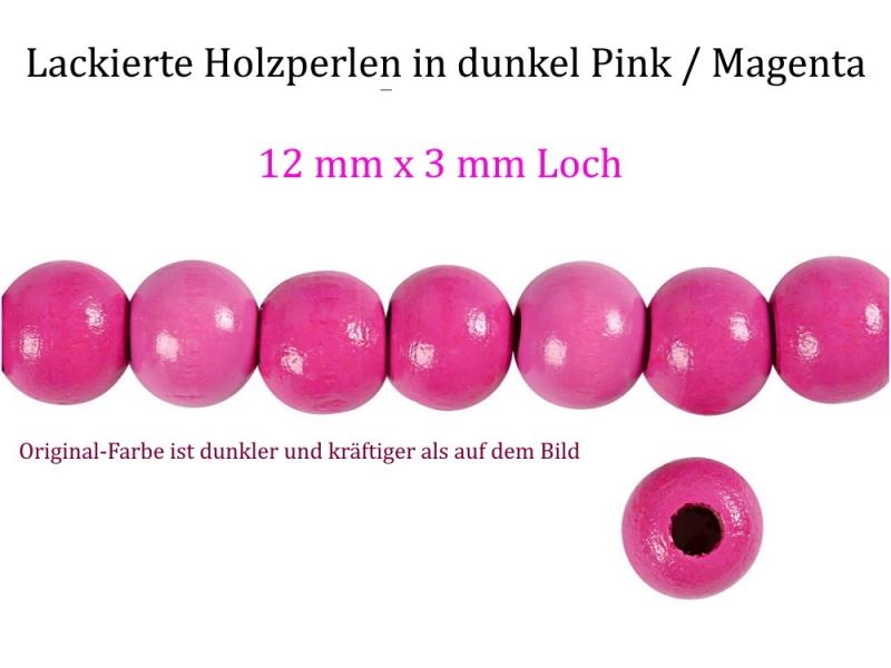 - Perlen aus Holz, - dunkel Pink / Magenta lackiert -, Holzperlen 12 mm Holzkugeln, Kinderperlen Perlenketten fädeln - Perlen aus Holz, - dunkel Pink / Magenta lackiert -, Holzperlen 12 mm Holzkugeln, Kinderperlen Perlenketten fädeln