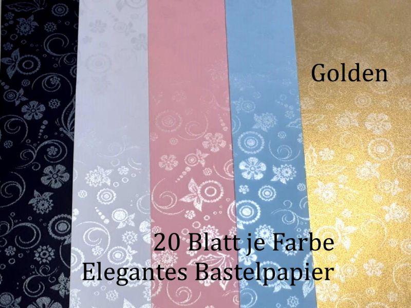 - Elegantes Faltpapier in Golden, Deko-Papier, Bastelpapier perfekt für Karten, schachteln, zum Stanzen uvm  - Elegantes Faltpapier in Golden, Deko-Papier, Bastelpapier perfekt für Karten, schachteln, zum Stanzen uvm