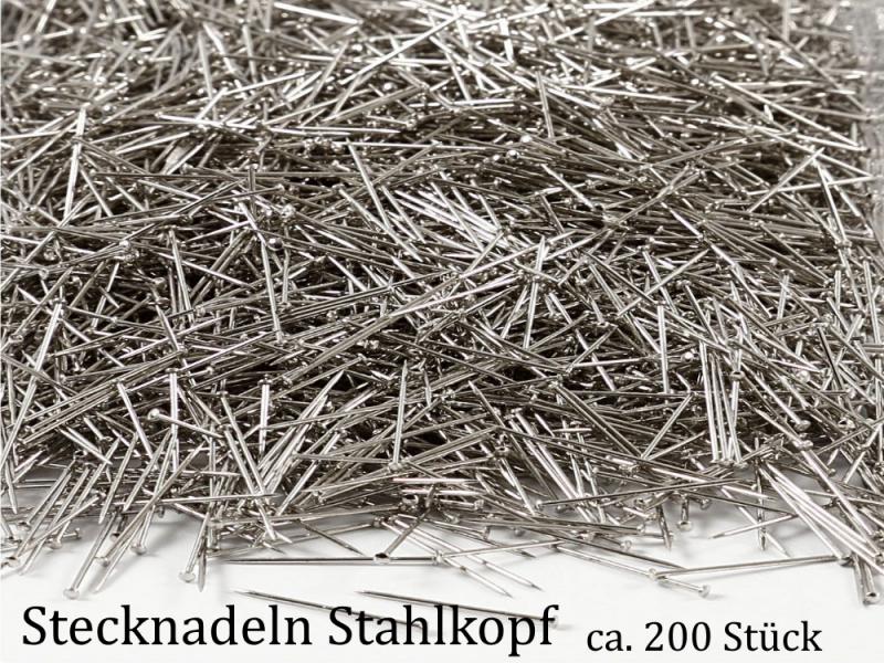- Stecknadeln mit Metallkopf, Stahlkopf zum Basteln mit Styropor und zum Nähen 200 Stück - Stecknadeln mit Metallkopf, Stahlkopf zum Basteln mit Styropor und zum Nähen 200 Stück