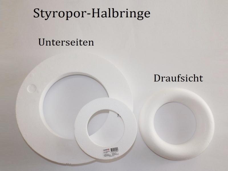 Kleinesbild - Styropor - Kranz Ø 20 cm Styroporkranz zum verzieren für Pailletten-Technik, Servietten-Technik Naturmaterialien u.m