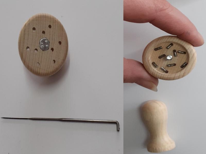 Kleinesbild - Filzwolle & Zubehör, Starter-Set zum Wolle filzen, Trockenfilzen, Filznadeln & Nadelgriff, Wolle zum filzen