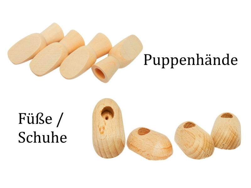 - Hände & Füße für Püppchen Puppen, Marionetten Zubehör Puppen selber basteln Holz-Hände Hand Füße Schuhe - Hände & Füße für Püppchen Puppen, Marionetten Zubehör Puppen selber basteln Holz-Hände Hand Füße Schuhe