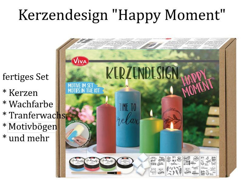 "- Kerzendesign – Inka Silk-Set ""Happy Moments"", Kerzen gestalten -> Komplett-Set inkl. Kerzen Inka Silkfarben & mehr - Kerzendesign – Inka Silk-Set ""Happy Moments"", Kerzen gestalten -> Komplett-Set inkl. Kerzen Inka Silkfarben & mehr"