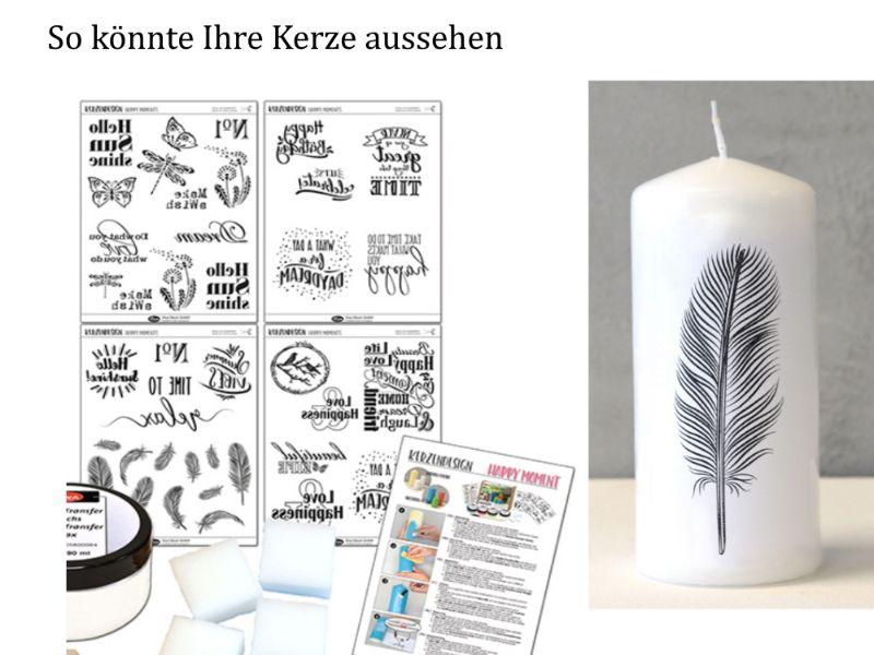 "Kleinesbild - Kerzendesign – Inka Silk-Set ""Happy Moments"", Kerzen gestalten -> Komplett-Set inkl. Kerzen Inka Silkfarben & mehr"