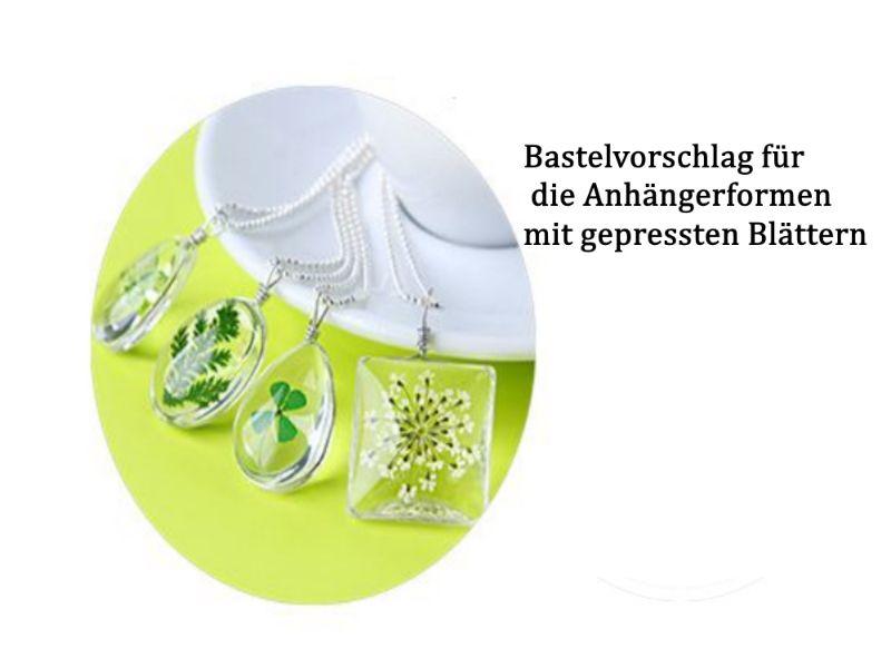 Kleinesbild - Resin, Epoxidharz, 2 Komponente A+B + Silikon-Formen als Set, Schmuck herstellen Harz gießen