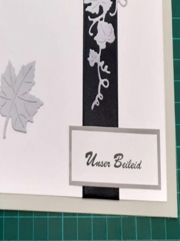Kleinesbild - Beileidskarte, Trauerkarte mit Umschlag, Trauer, Verstorben, Beileid  Anteilnahme, Kondolenz Abschied