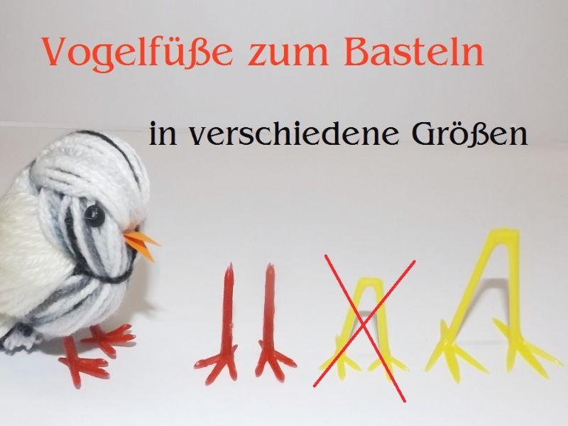 Kleinesbild - Vogelfüße zum basteln, Gelb Kunststoff Küken basteln Oster-Dekoration, Osternest, Vogel sehr stabil