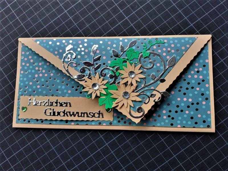 """- Handgearbeitete elegante Glückwunschkarte, """"Eine für alle"""" - Handgearbeitete elegante Glückwunschkarte, """"Eine für alle"""""""