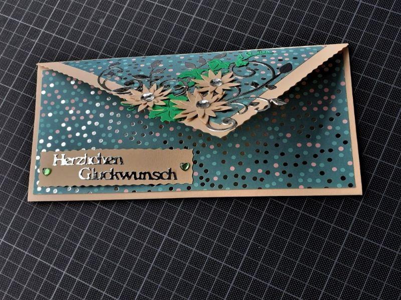 """Kleinesbild - Handgearbeitete elegante Glückwunschkarte, """"Eine für alle"""""""