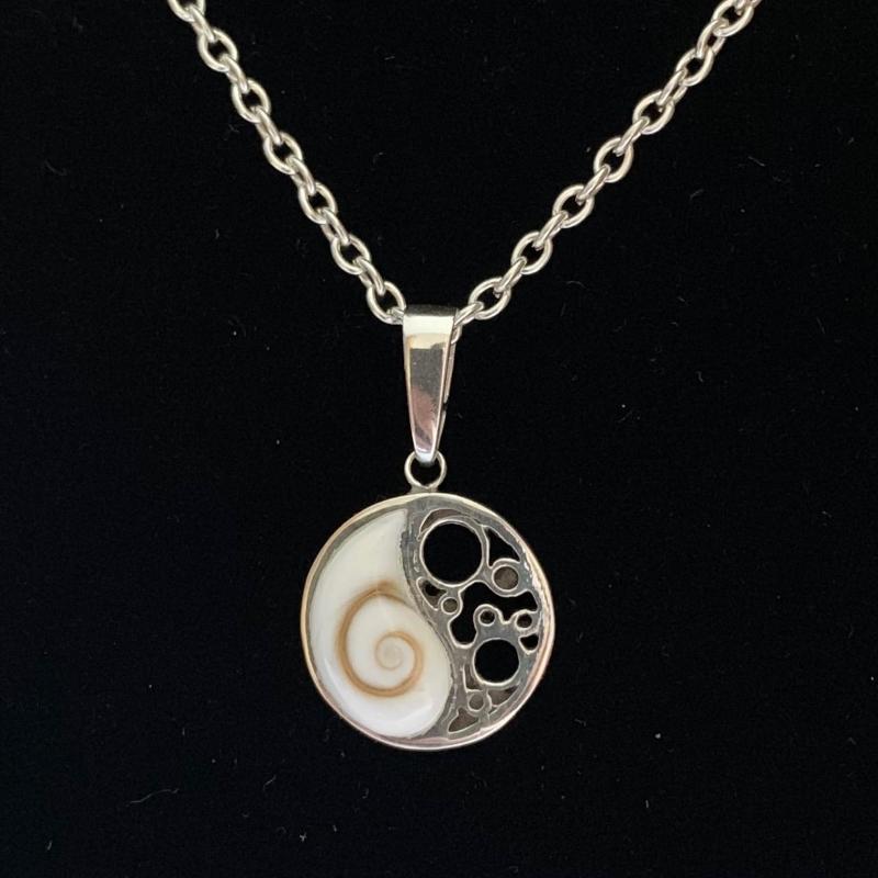 - Silberanhänger handgefertigt - Auge des Shiva in Yin und Yang - Unikat - Silberanhänger handgefertigt - Auge des Shiva in Yin und Yang - Unikat