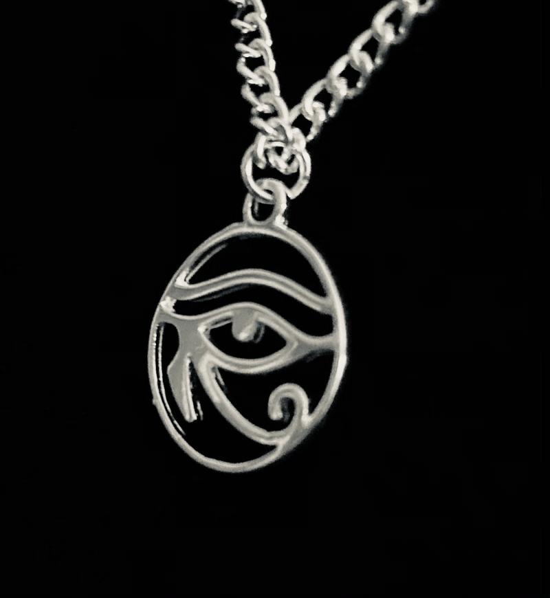 Kleinesbild - Silberanhänger handgefertigt ägyptisches Horus Auge - Unikat