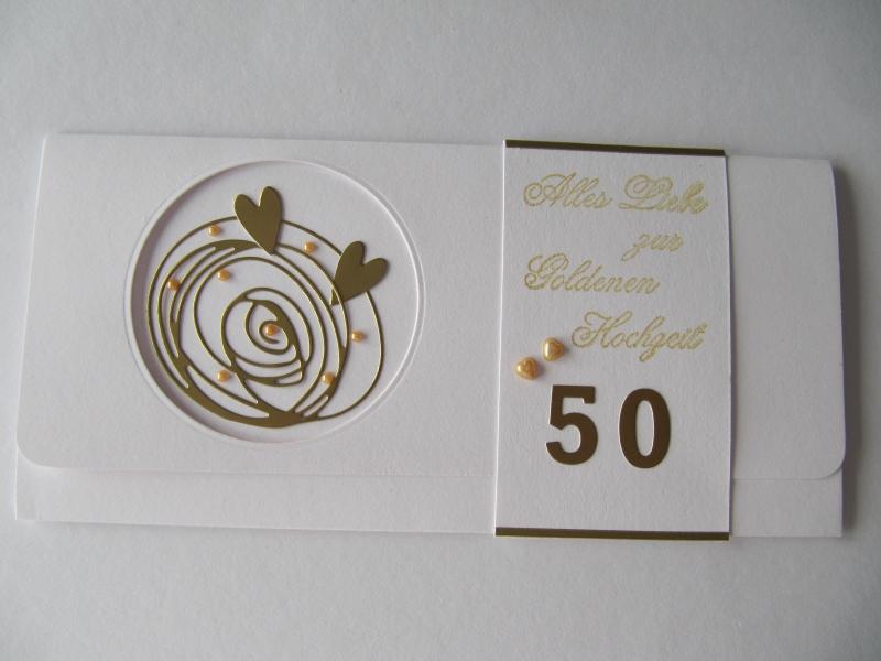 Goldene Hochzeit 50 Jahre Geldgeschenk Karte